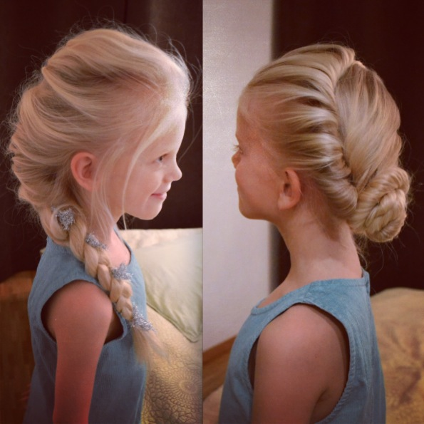 Elsa s 2 hairdos from Disney s FrozenAnna Frozen Hair Up